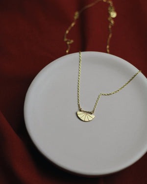 Geo Pendant - 24k Gold Vermeil Necklace