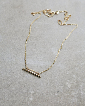24k Gold Vermeil Bar Necklace