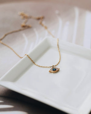 Gold Vermeil - Evil Eye Necklace