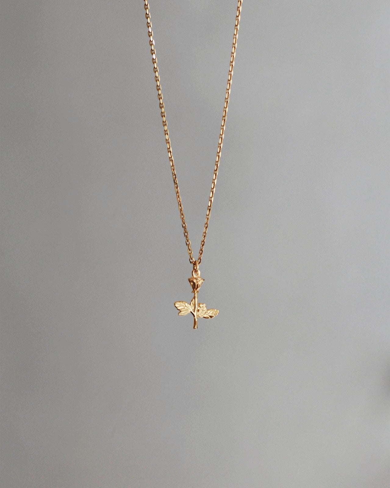 Rose Pendant 24k Gold Vermeil Necklace