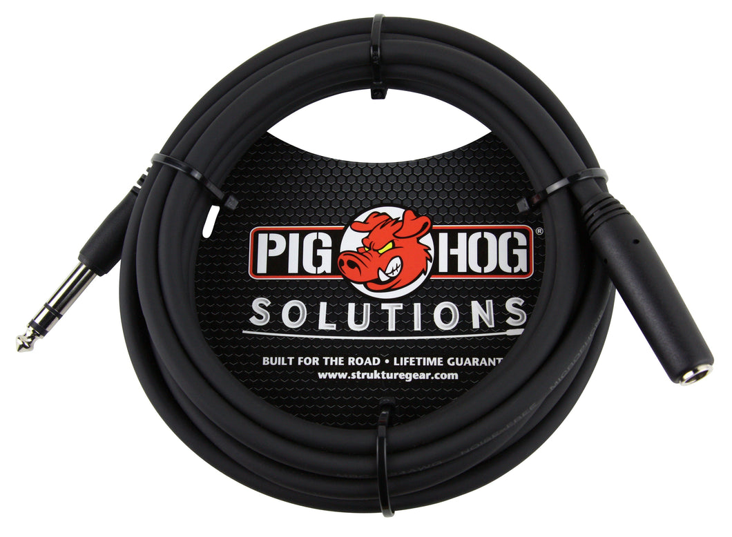 PIG HOG SOLUTIONS - 10FT HEADPHONE EXTENSION CABLE, 1/4