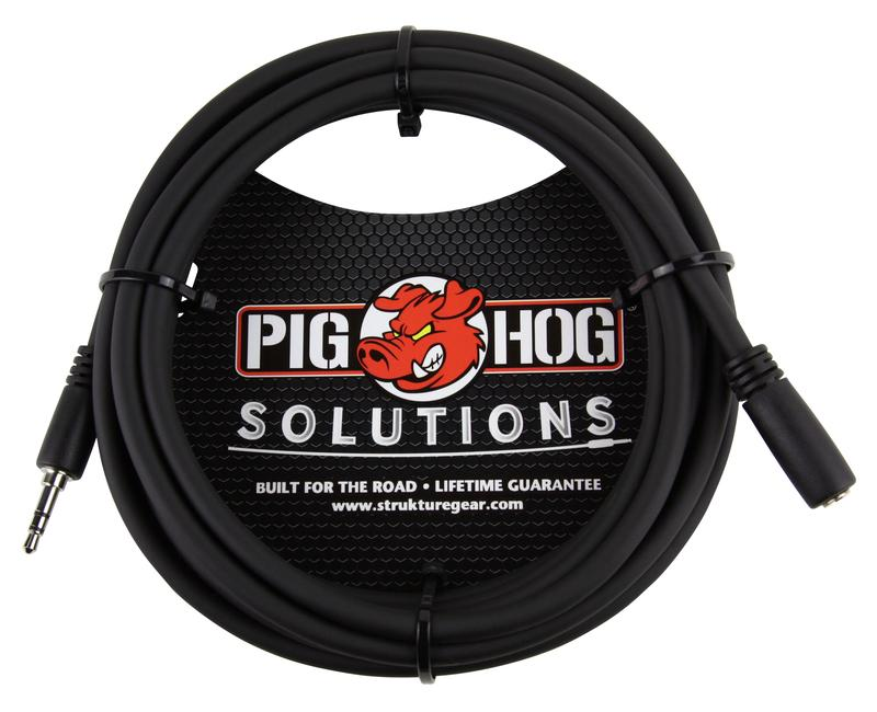 PIG HOG SOLUTIONS - 10FT HEADPHONE EXTENSION CABLE, 3.5MM