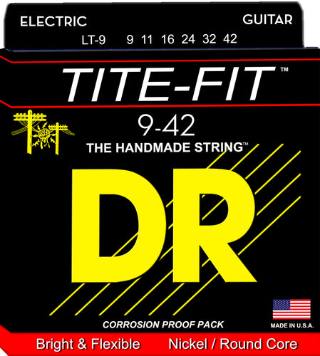 DR Strings Tite-Fit LT-9 Light Gauge Electric Guitar Strings