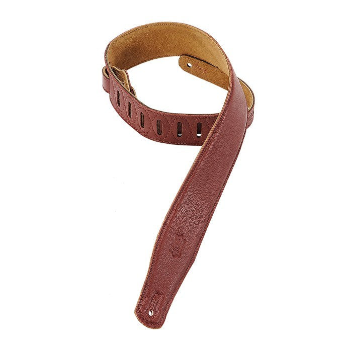Levy's M26GF-BRG GARMENT LEATHER GUITAR STRAP-Burgundy