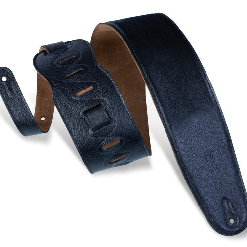 LEVY'S M4GF-BLK GARMENT LEATHER BASS GUITAR STRAP