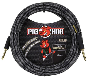 "PIG HOG ""AMP GRILL"" INSTRUMENT CABLE, 20FT"