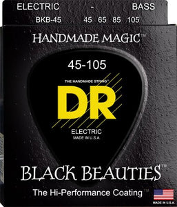 DR Strings BKB-45 Black Beauties Coated Steel Medium Bass Strings 45-105