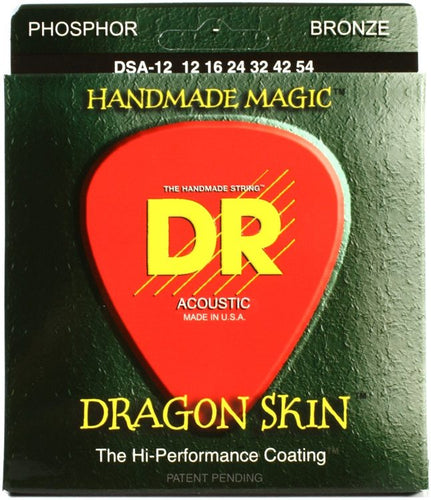 *2 Pack* DR Strings Dragon Skin DSA-12 Light Acoustic Guitar Strings