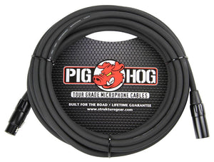 PIG HOG 8MM MIC CABLE, 25FT XLR