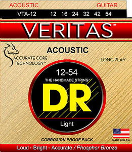DR Veritas VTA-11 Custom Light Acoustic Guitar Strings