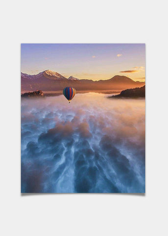 Balloon above the clouds