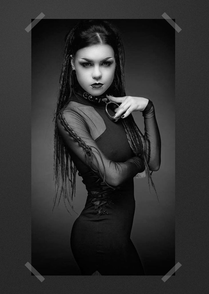 Young gothic lady