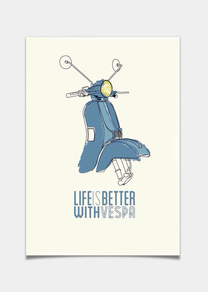 Life is better with Vespa
