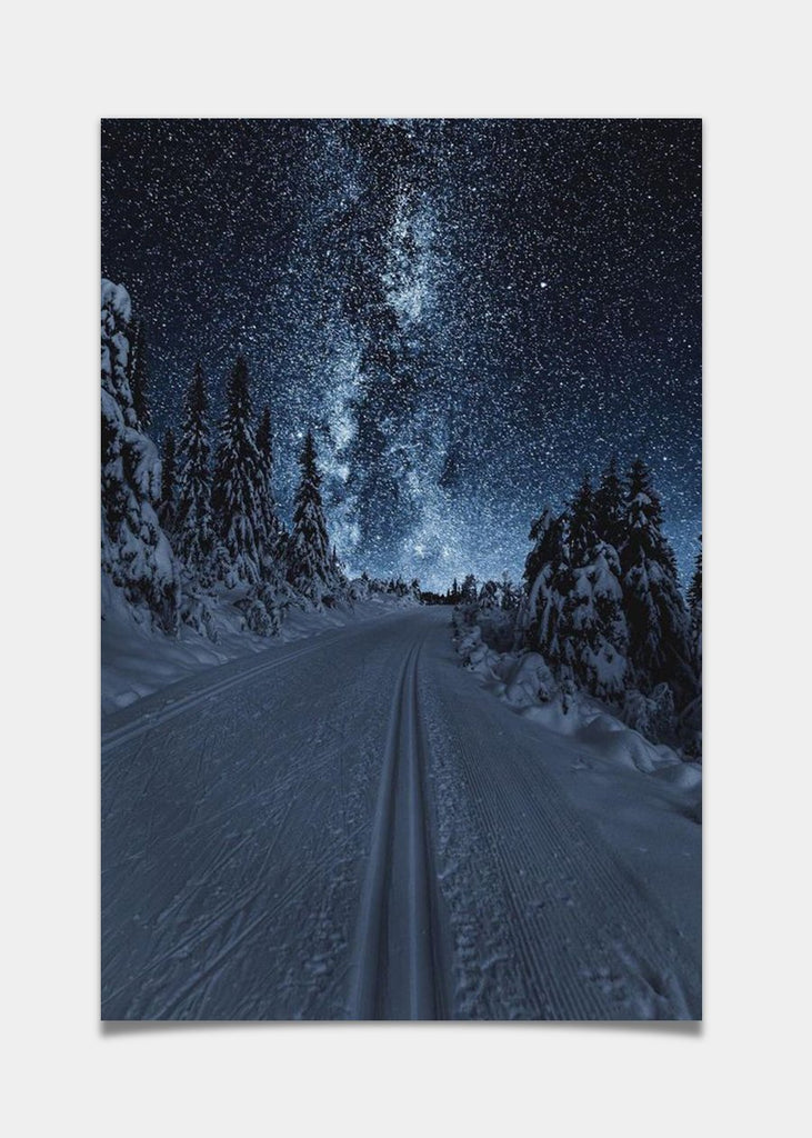 Skiing under the stars