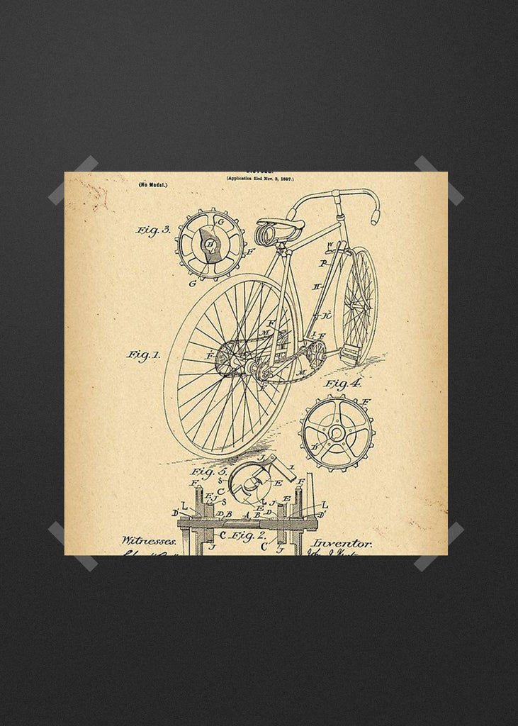 Road Bike technical drawing