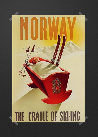 Animated Ski Norwegian Cradle