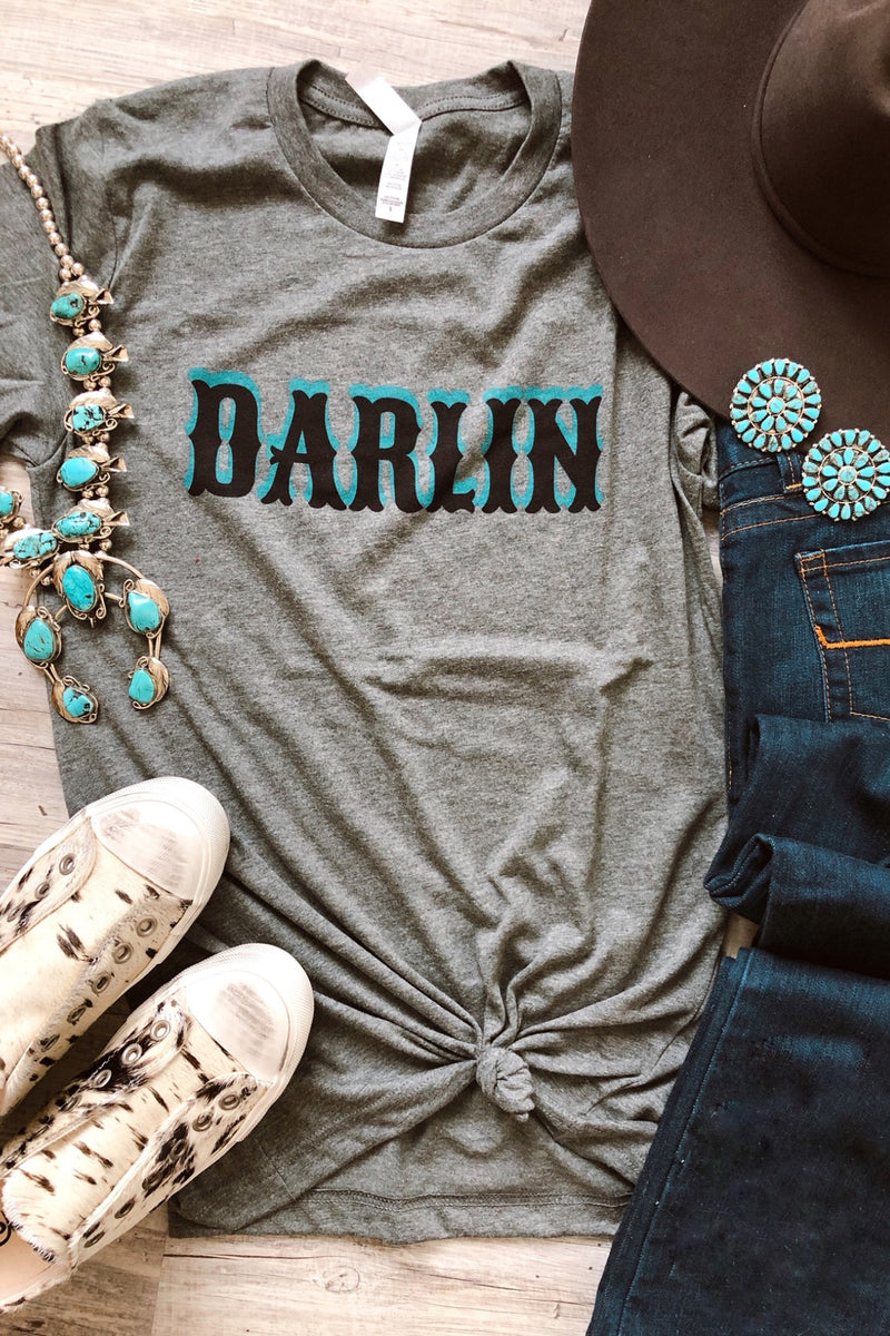 Branded T - Darlin Tee - Tin & Turquoise Western Boutique