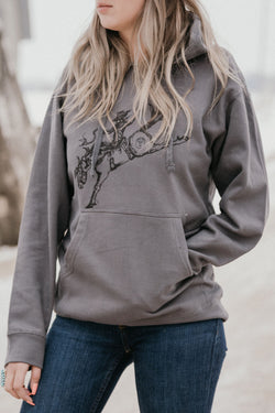 Branded T - Buckin Around Hoodie (Charcoal XXL Only)