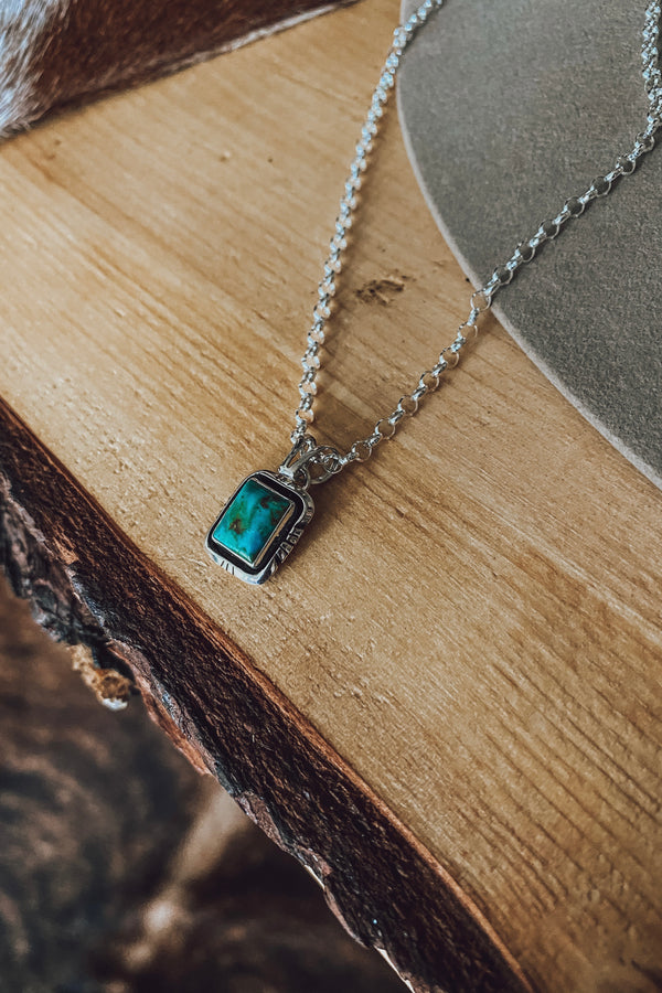 Squared Up Pendant Necklace