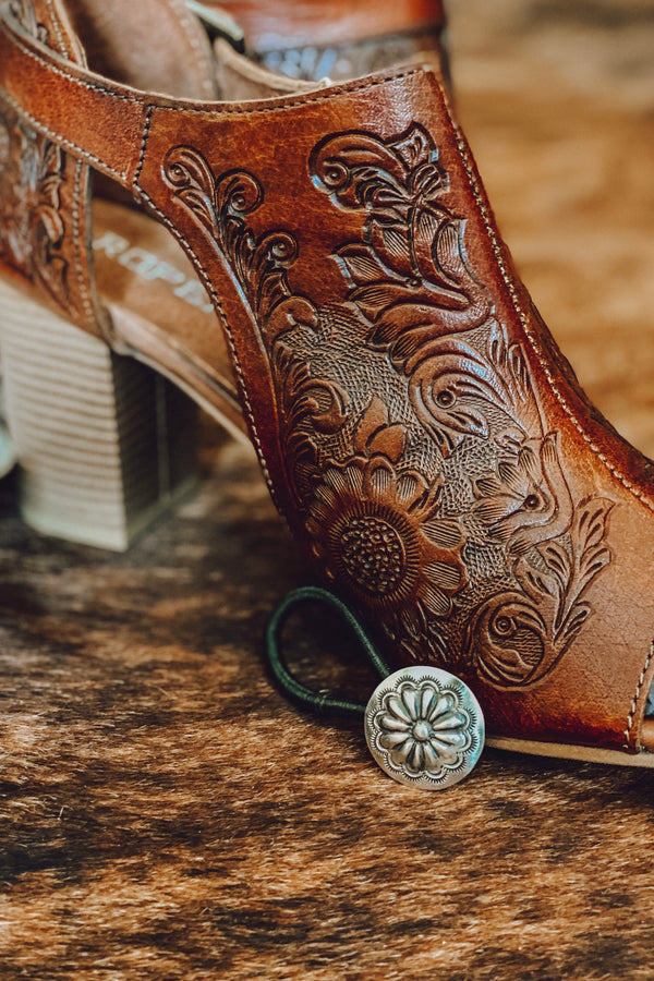 Sterling Silver Concho Hair Tie