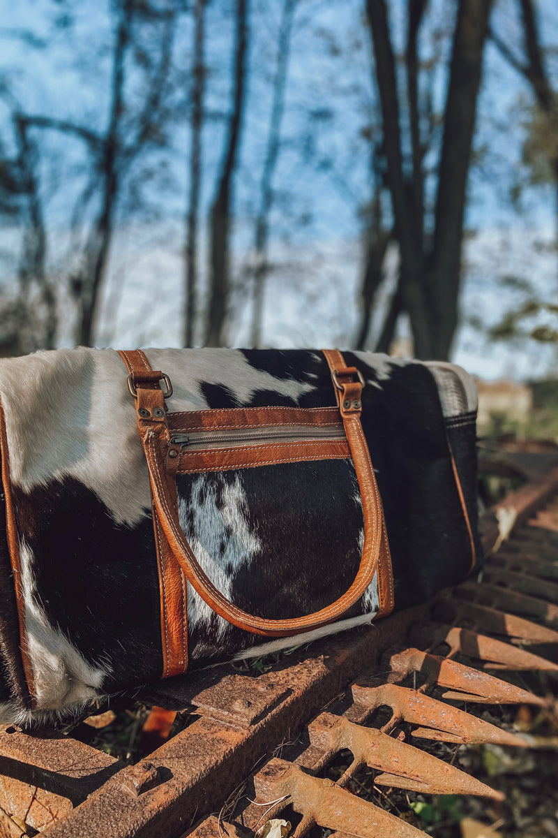 The Gunnison Cowhide Duffle