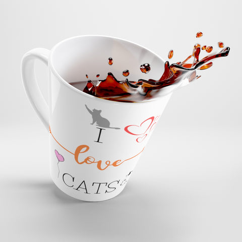 Image of Helen - Love Cats Latte Mug -CatStory™