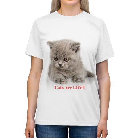 Image of Roberta - Cats Are Love - Unisex Triblend Tee-CatStory™