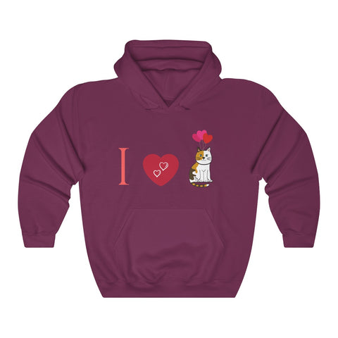 Image of Gina - I Love Cats - Heavy Blend™ Hooded Sweatshirt CatStory™