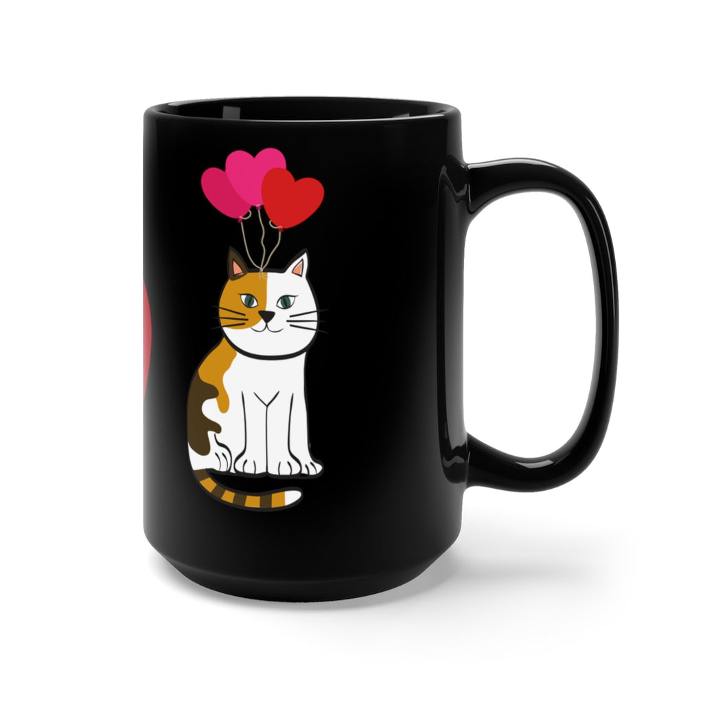Mia - I LOVE CATS - Black Mug 15oz -CatStory™