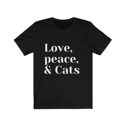 Image of Mylene - Love,Peace,Cats - Unisex Jersey Short Sleeve Tee