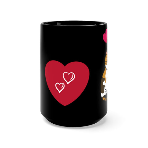Image of Mia - I LOVE CATS - Black Mug 15oz -CatStory™