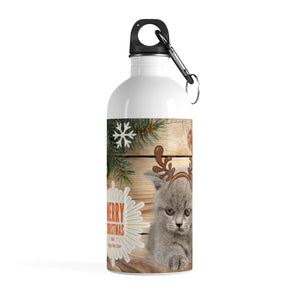 Victoria - Xmas - Stainless Steel Water Bottle -CatStory™