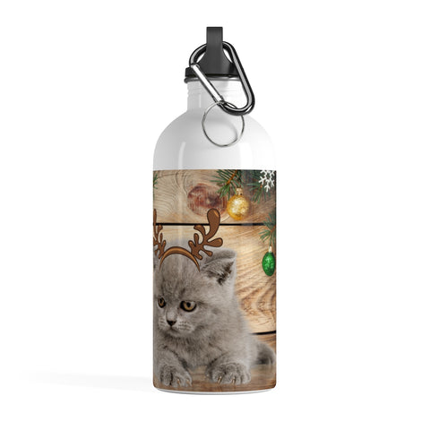 Image of Victoria - Xmas - Stainless Steel Water Bottle -CatStory™