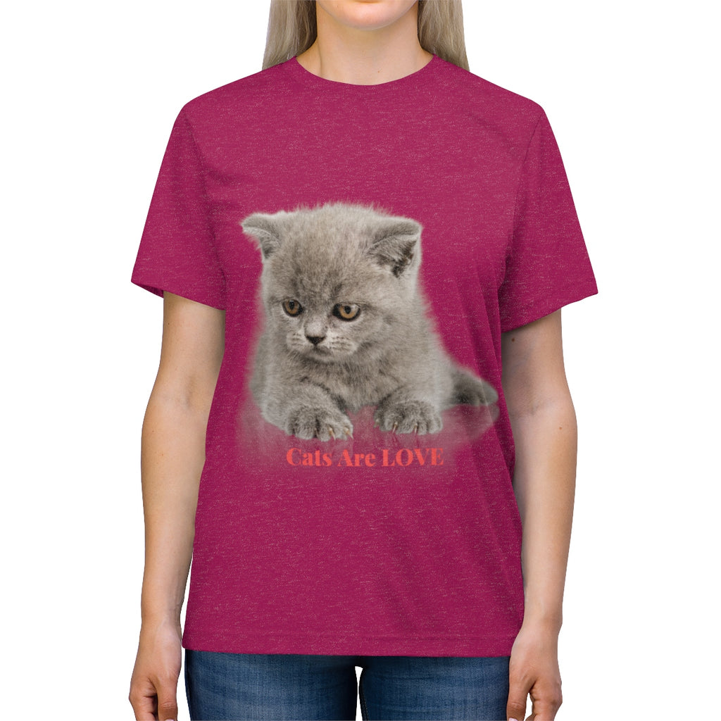 Roberta - Cats Are Love - Unisex Triblend Tee-CatStory™