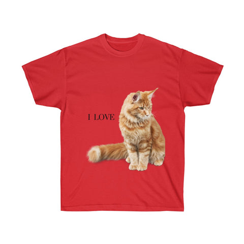 Image of Amy - I Love Cats - Unisex Ultra Cotton Tee-