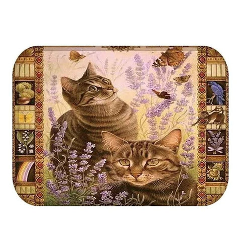 Image of Holly - CatStory™ Lovely Cats Pattern Anti-Slip Suede Doormat