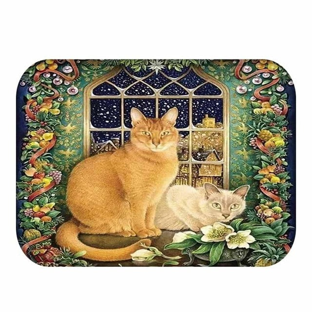 Holly - CatStory™ Lovely Cats Pattern Anti-Slip Suede Doormat