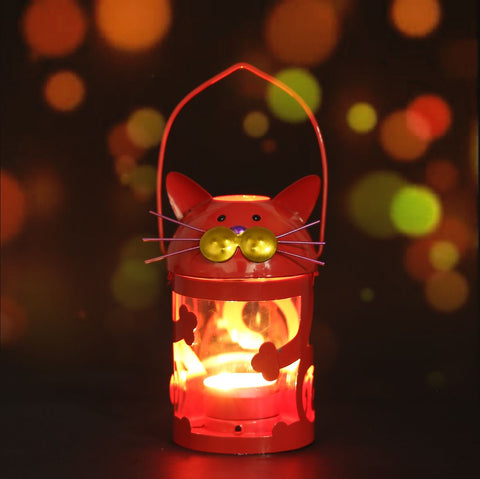 Image of Luli -  Cat Candle Holder Hurricane lamp