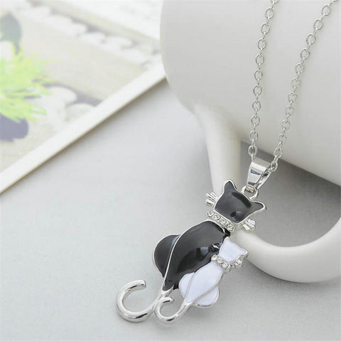 Image of Milan - CatStory™ Hugging Cats Necklace