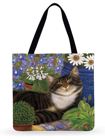 Image of Vera - CatStory™ Cute Cat Canvas Handbag