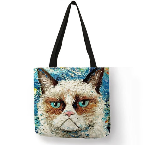 Dora - CatStory™ Cute Cat Canvas Handbag