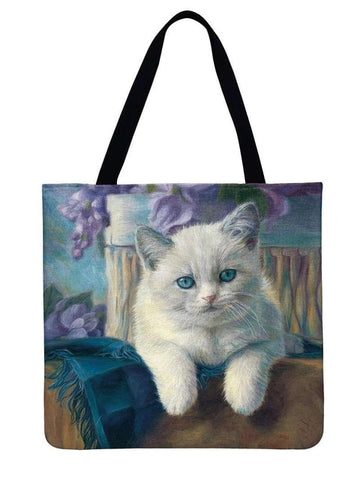 Image of Wendy - CatStory™ Cat Print Canvas Handbag
