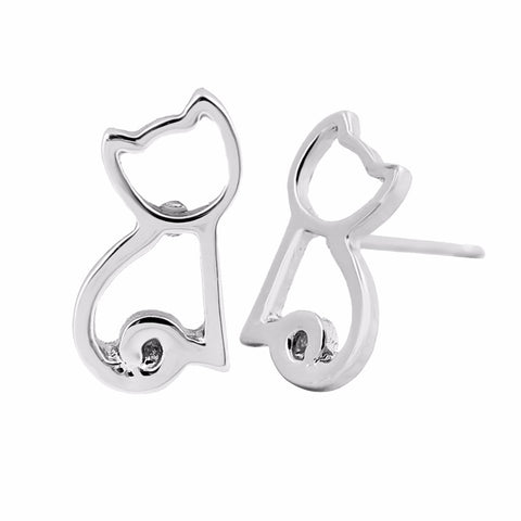 Image of Dakota - CatStory™ Geometric Cat Stud Earring