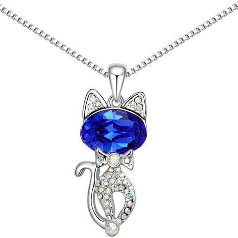 Image of Maria - CatStory™ Crystal Cat Necklace