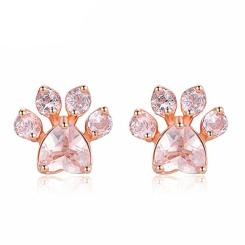 Image of Ann - CatStory™ Cat Pink Paw Earrings