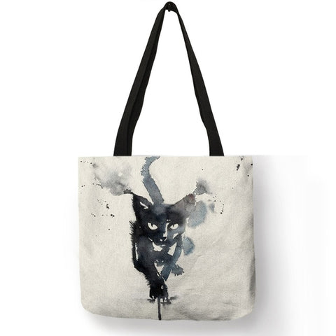 Image of Tammy -  CatStory™ Cat Print Canvas Handbag