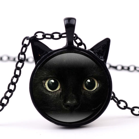 Image of Kate -  CatStory™ Black Cat Pendant Chain Necklace