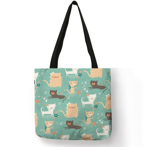 Image of Kiki -  Casual Portable Fashion Handbag Colorful Cartoon Cute Cat