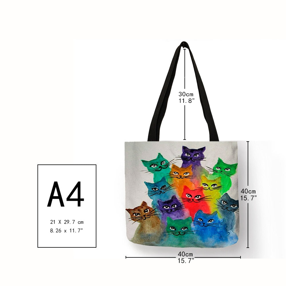 Kiki -  Casual Portable Fashion Handbag Colorful Cartoon Cute Cat
