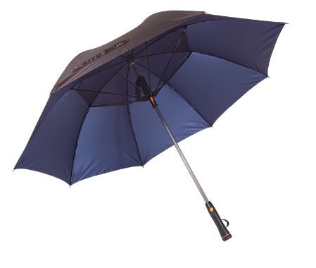 Navy Blue Fan Umbrella with USB Charger